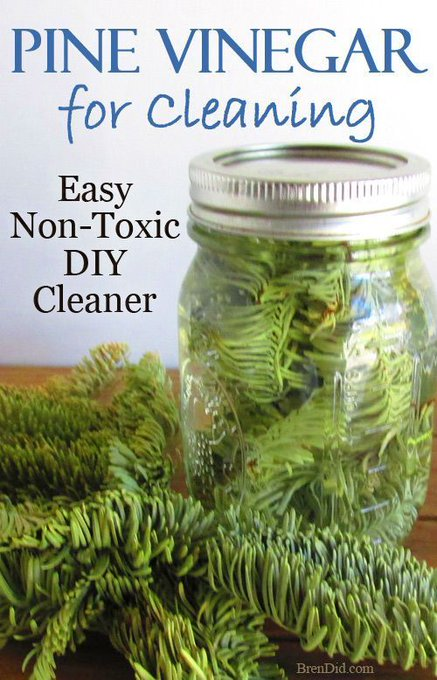 Like the smell of pine cleaners but don't like chemicals? DIY