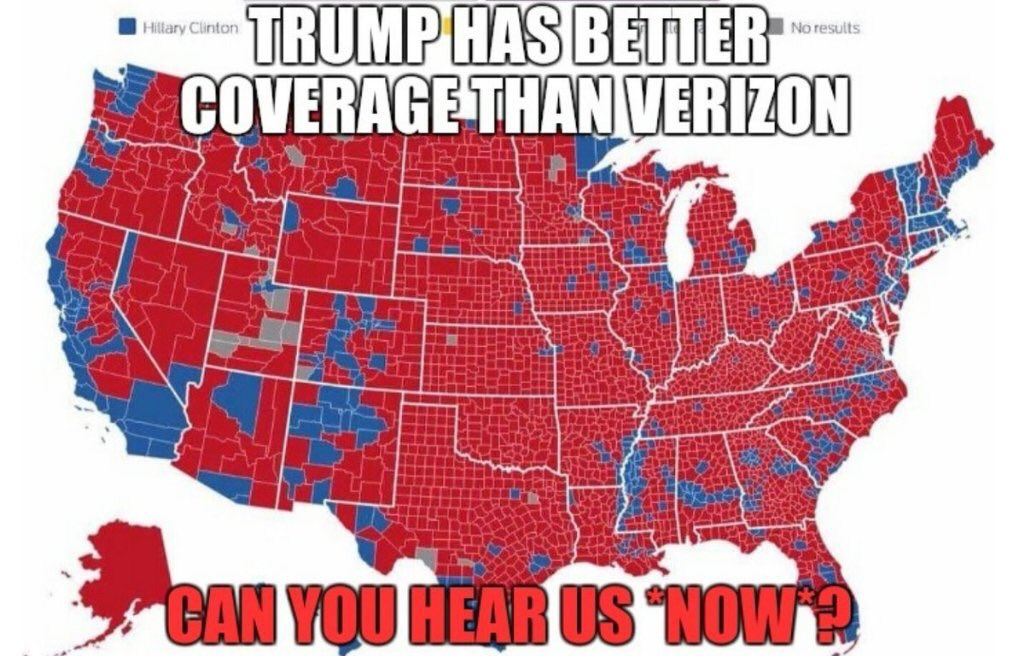 Can you hear us now map trump