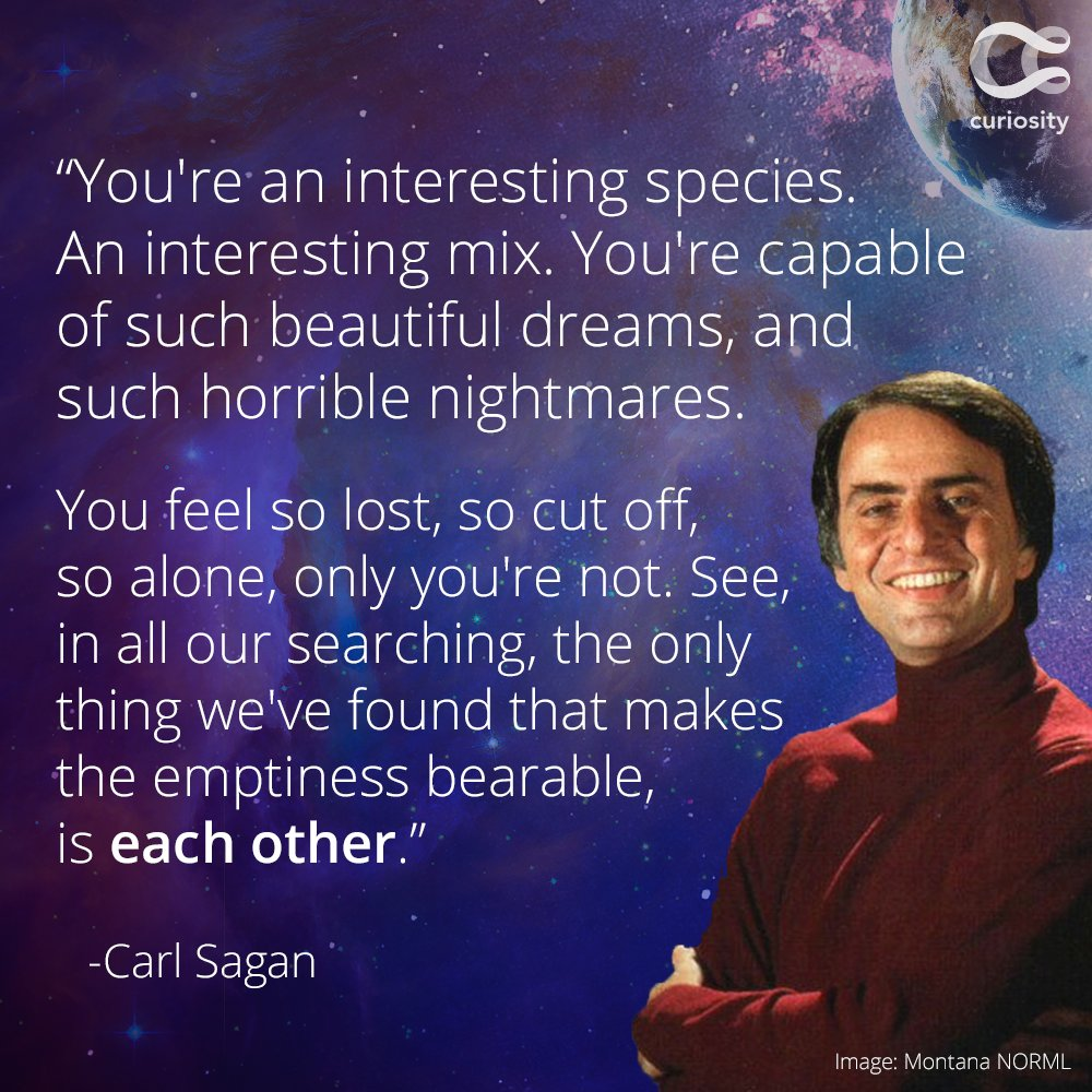 Happy birthday, Carl Sagan.  He would've been 82 years old today. https://t.co/gBn8GgHnnm