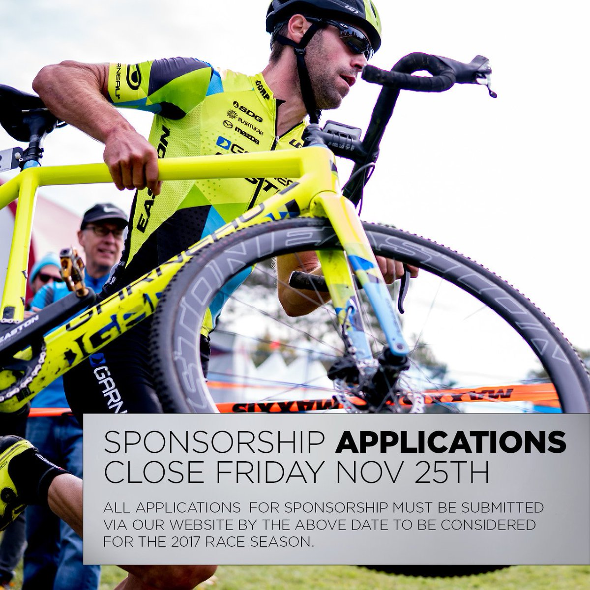 Sponsorship applications close 25th November, follow this link to apply: https://t.co/dmJHkIMDgh https://t.co/yslDuk4I3m