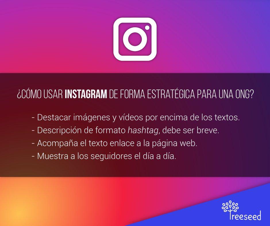 Instagram es una excelente herramienta para una ONG #culturatreeseed #ong #costarica https://t.co/rLAmeg1Xdh