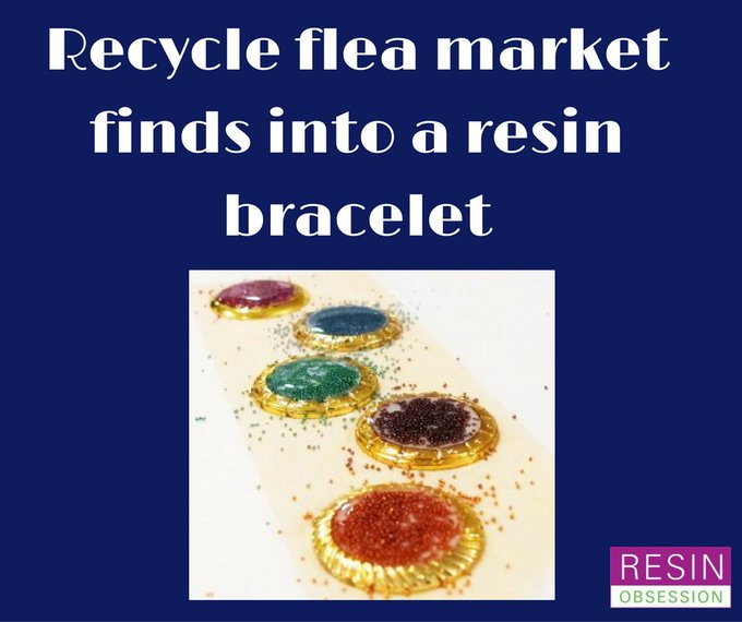 Recycle a flea market find into your next piece of resin jewelry resin resinobsession diy
