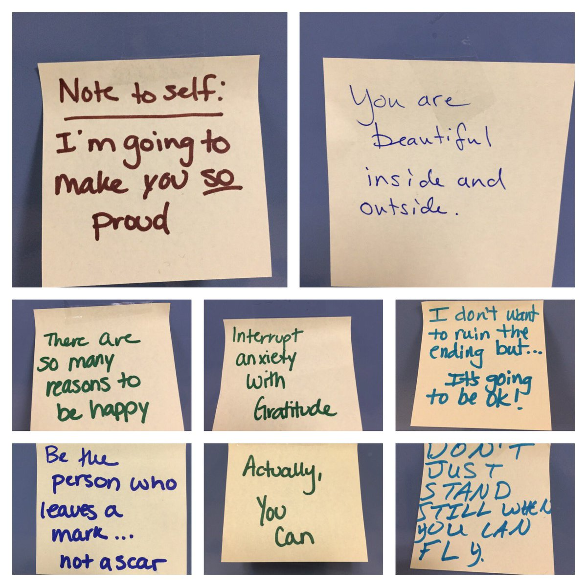 More of our positivity notes from today. #OPUnited @OakParkHS https://t.co/4HGPiQ4DeX