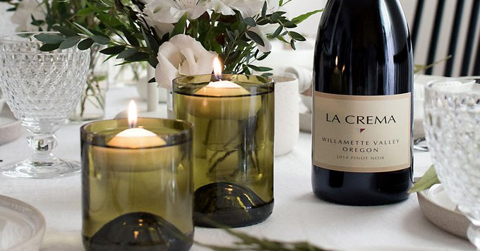 Looking to upcycle your empty wine bottles? Try this floating candle holder DIY: