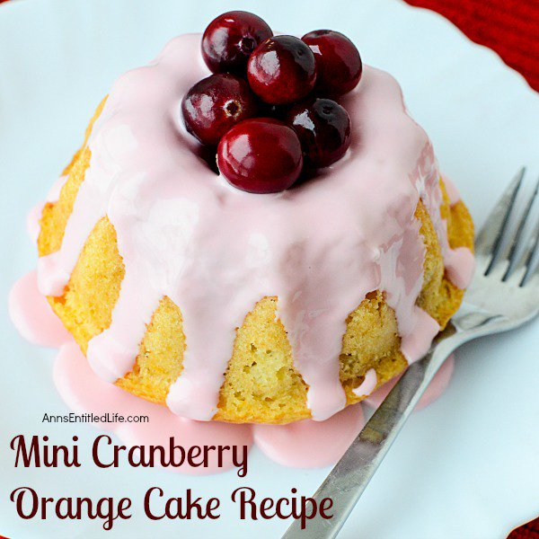Mini Cranberry Orange Cake