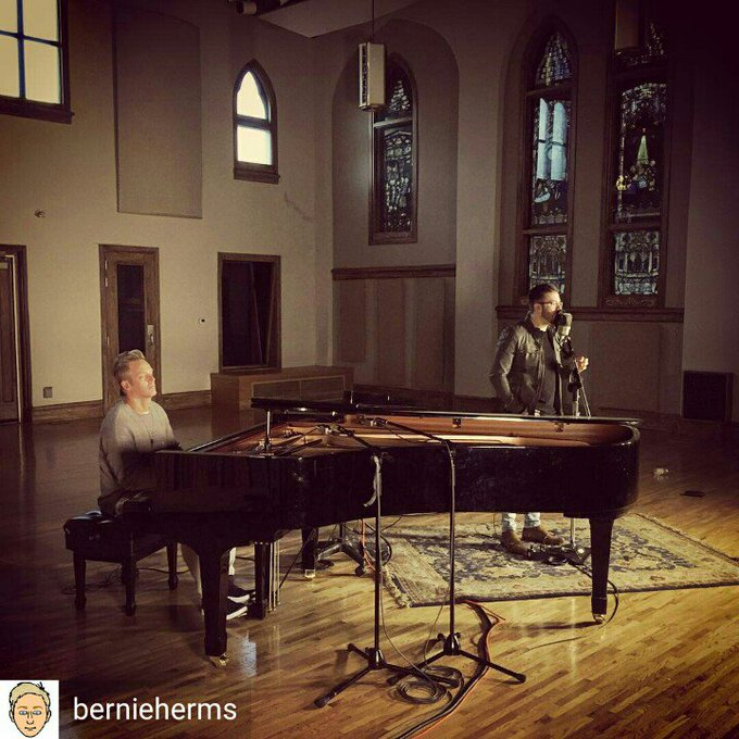 Bernie Herms and Danny Gokey at Ocean Way Studio