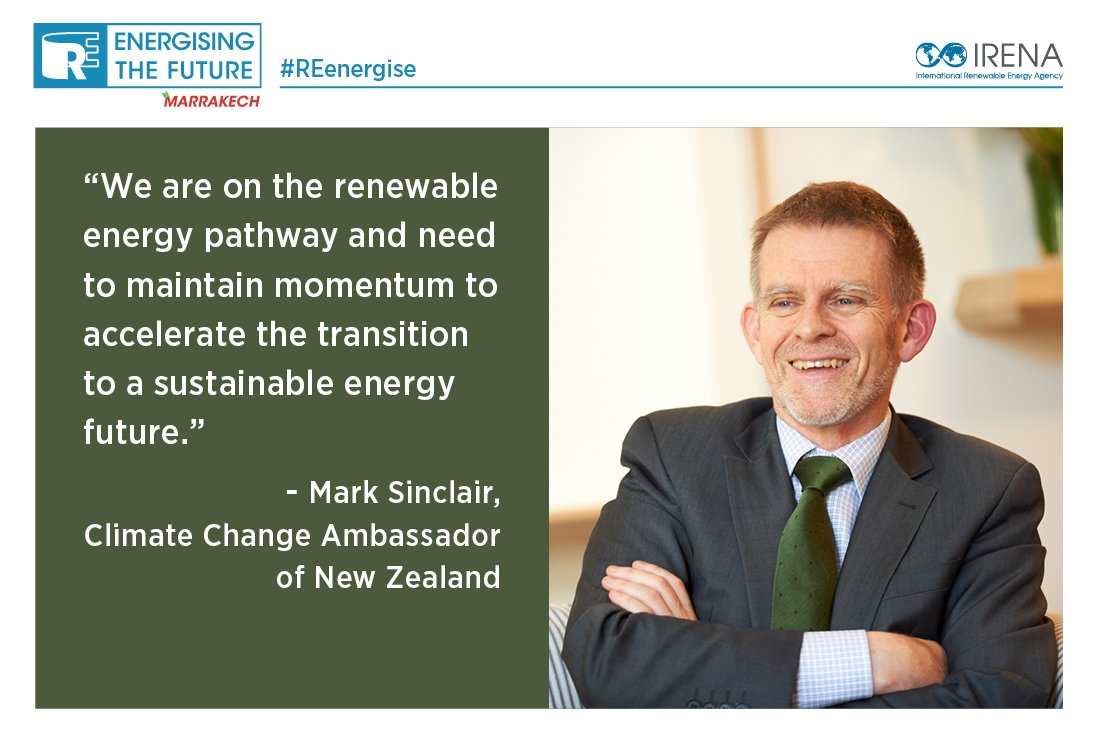 Climate Change Ambassador for NZ @ClimateEnvoyNZ will speak @ Energy Day #COP22 on role of renewables #REenergise https://t.co/5keTOnWAHU https://t.co/ibcM3mvhrM