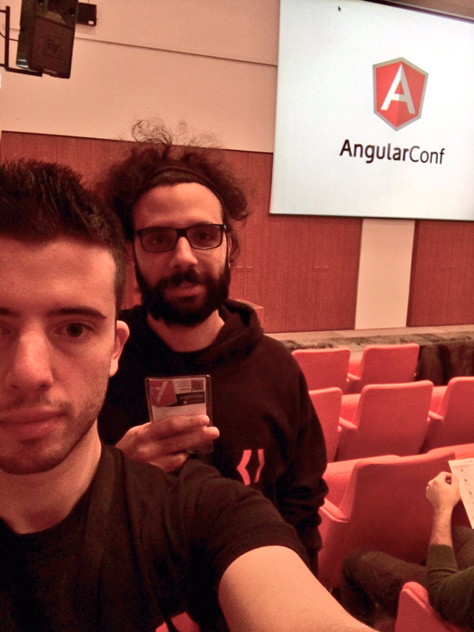 Today our devs @gianfra__ and @Mattia_Zanella are at @_CloudConf_  #javascript #angular #angularjs #angular2 #angularconf16 https://t.co/6OjEKjdtFY