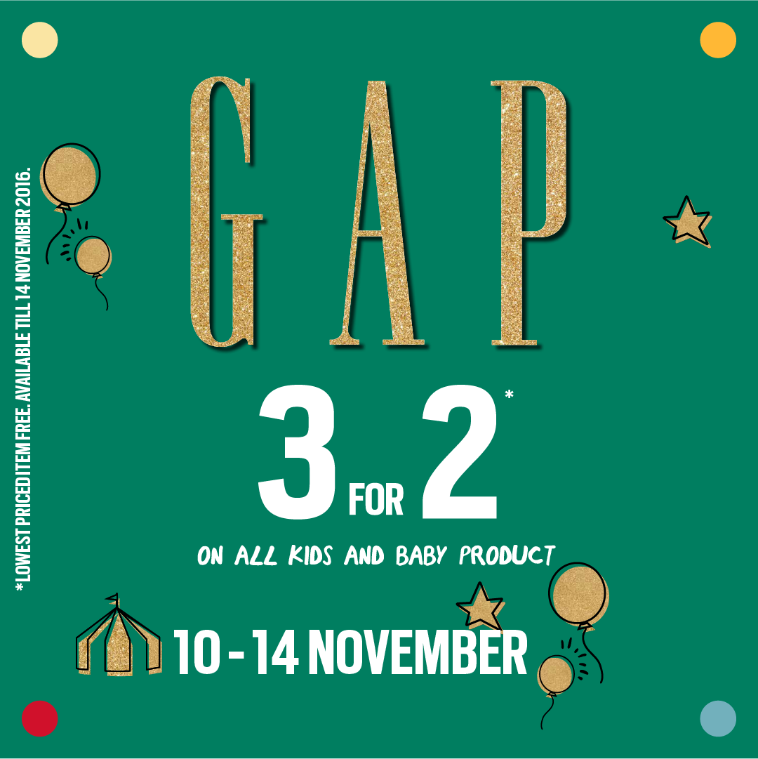 dee57810043e 3 for 2 on  GapKids    BabyGap products from 10 to 14 Nov. Rush2  Gap  stores    OberoiMall now!… https   t.co Vh8M5stgTs