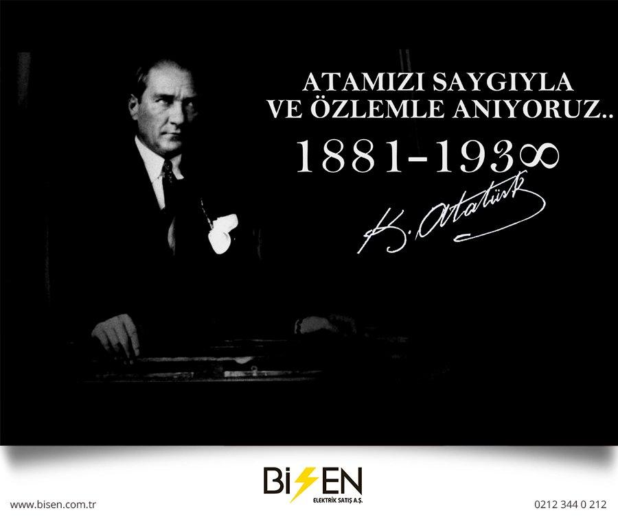 Saygı ve Minnetle Anıyoruz.. #10Kasım #UluÖnderAtatürk #Atamız https://t.co/rExPGoQCkU