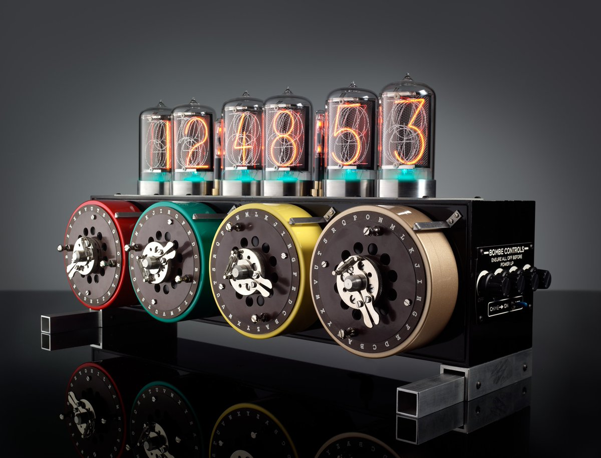 #Steampunk-ish Awesome of the Day: Alan Turing Inspired 'Bombe Nixie Clock' Limi. Ed. by @BadDogDesigns_ #SamaDesign