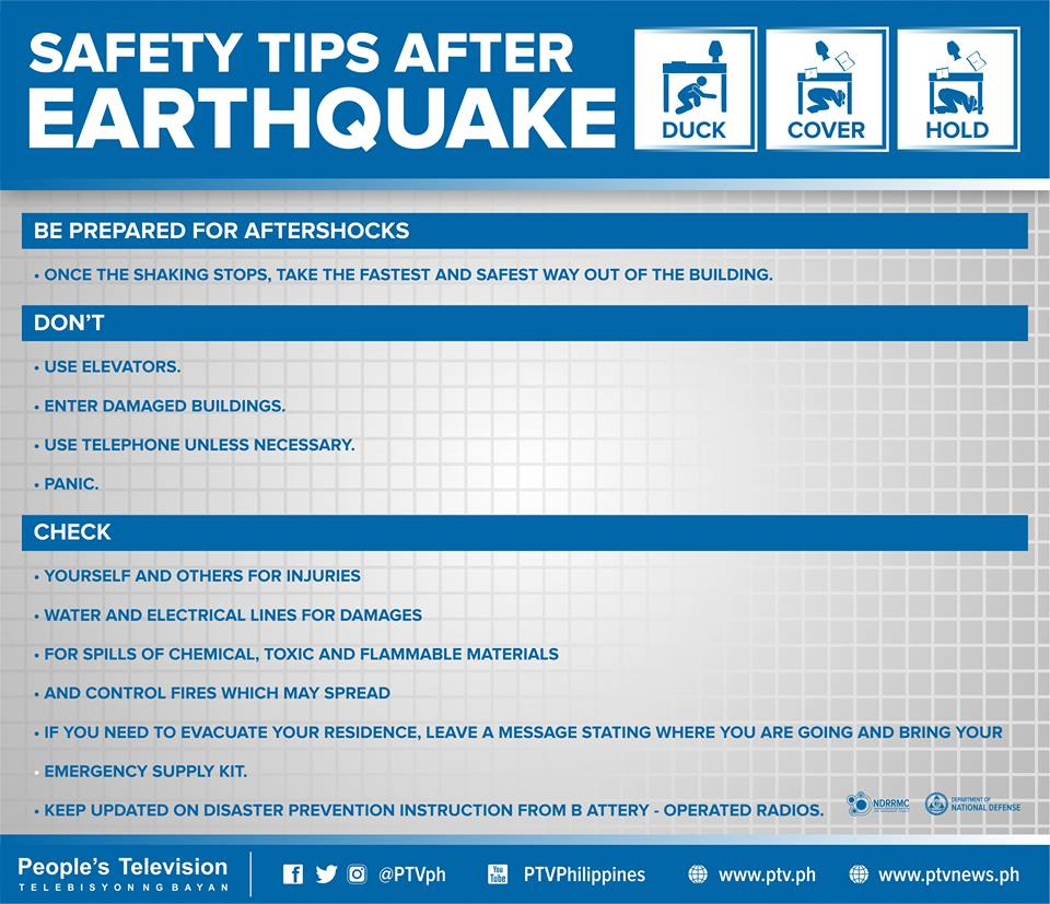 Safety Tips : FYI Safety Tips Earthquake | People'