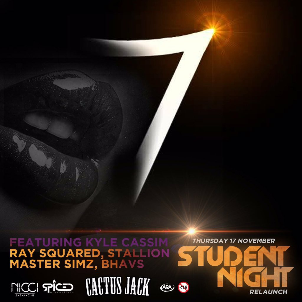7 days until SA's biggest student night returns to @niccibeach ! :D Tequila, Friends, Music!!  Danny@spcedproductions.co.za to book ur table https://t.co/VP31t1VWZZ