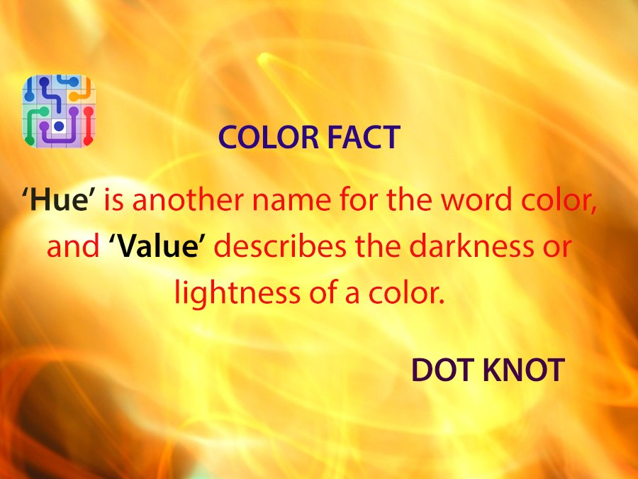 knots on twitter color fact hue is another name for the word