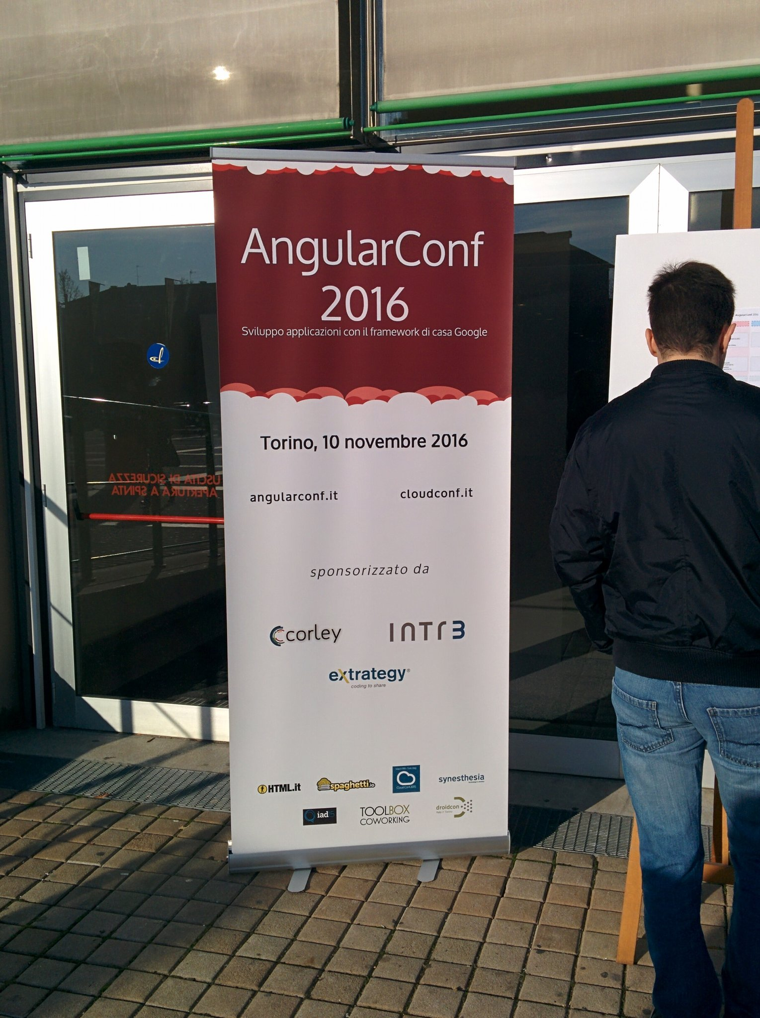 Pronto per #angularconf16 😺 https://t.co/YF1q5d0bNr