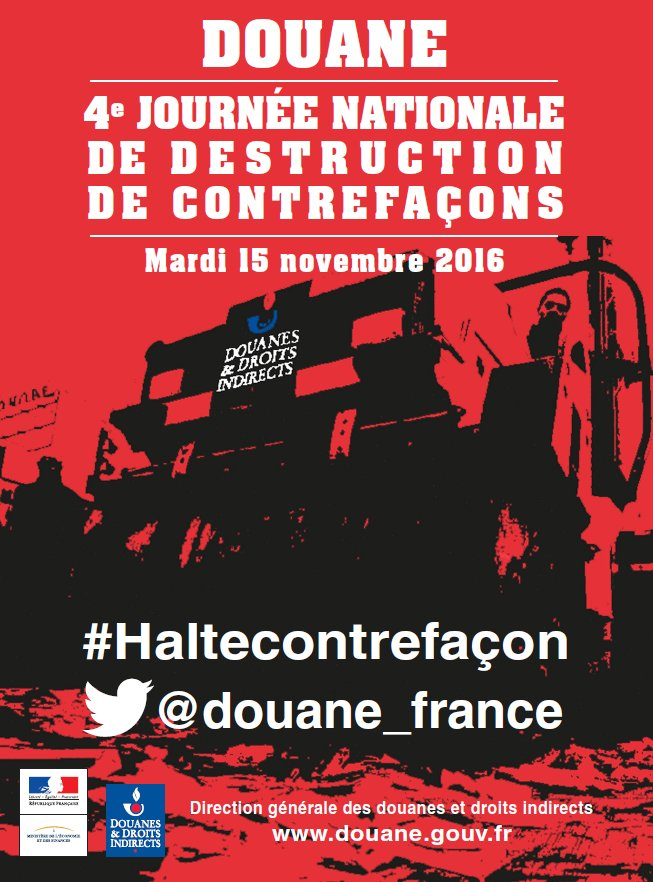 Thumbnail for 4ème journée nationale de destruction des contrefaçons