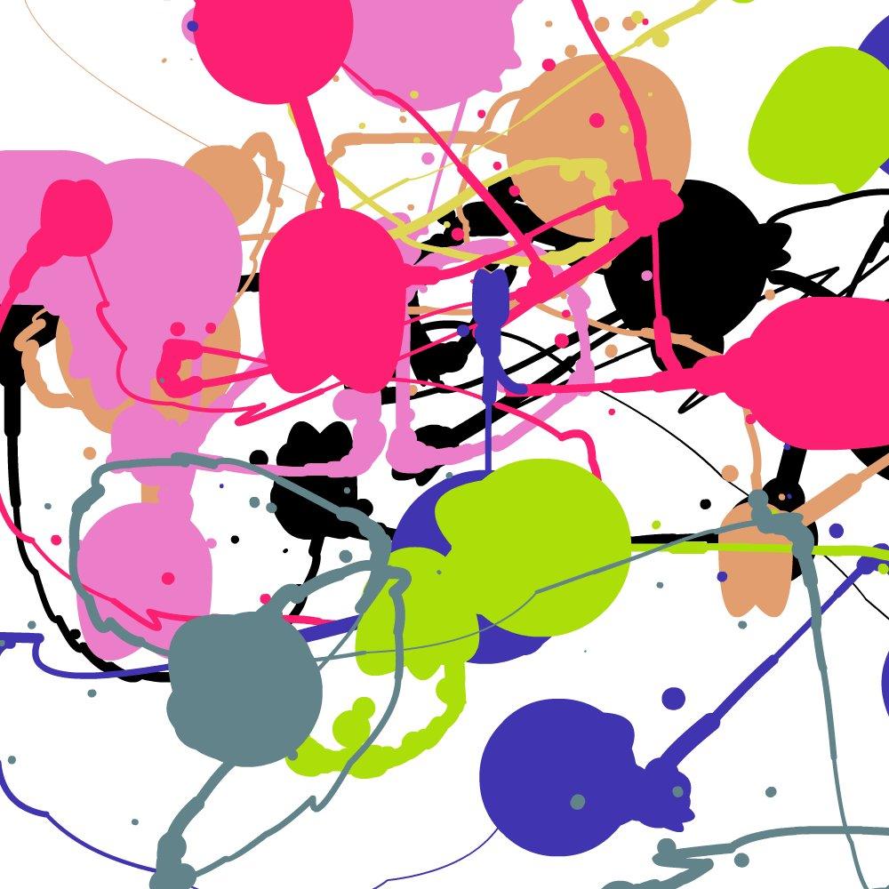 Eye gaze Jackson Pollock style image