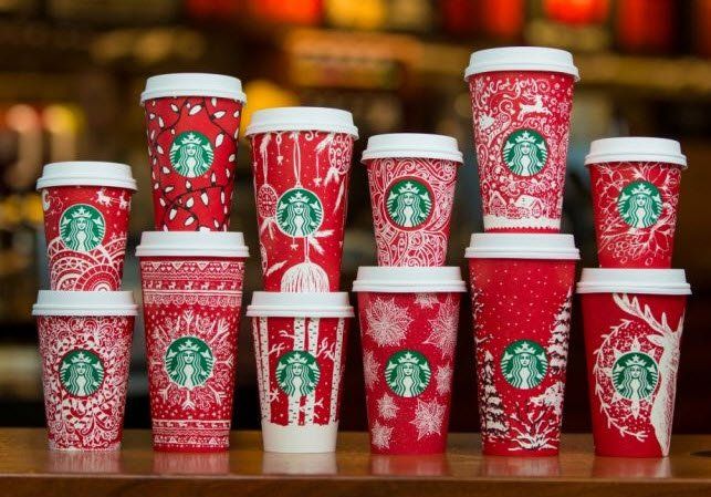 Starbucks 2016 Red Cups feature multiple holiday designs by Starbucks customers https://t.co/2Mo4HlQtUW https://t.co/gWXhxnlNm2