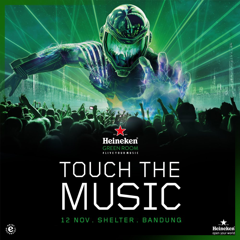 Let's join #HeinekenGreenRoom this weekend at @shelterbdg Bandung. Come and pick your own music sensation! #TouchTheMusic https://t.co/NvRce4Uvfh