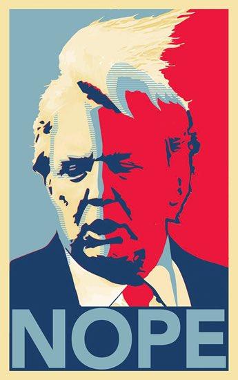 Donald Trump Nope Poster