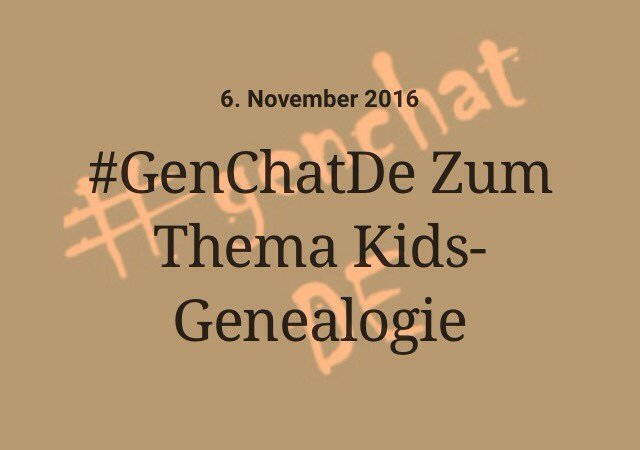 Let's talk: about Kids and Genealogy  P.S. Brush up on your German! #GenchatDE SLR 🍀🐰 2p East | 1p Central | Noon Mountain | 11a Pacific https://t.co/evotPJMKum
