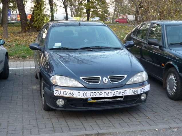 SQL injection attacks against speed cameras