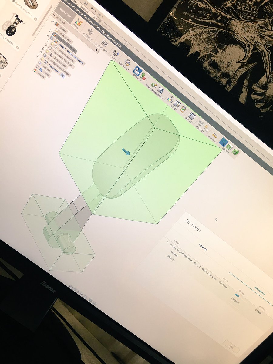 Cloud-based Nastran optimisation in @adskFusion360? Oh yes. https://t.co/SGhQkv7cPT