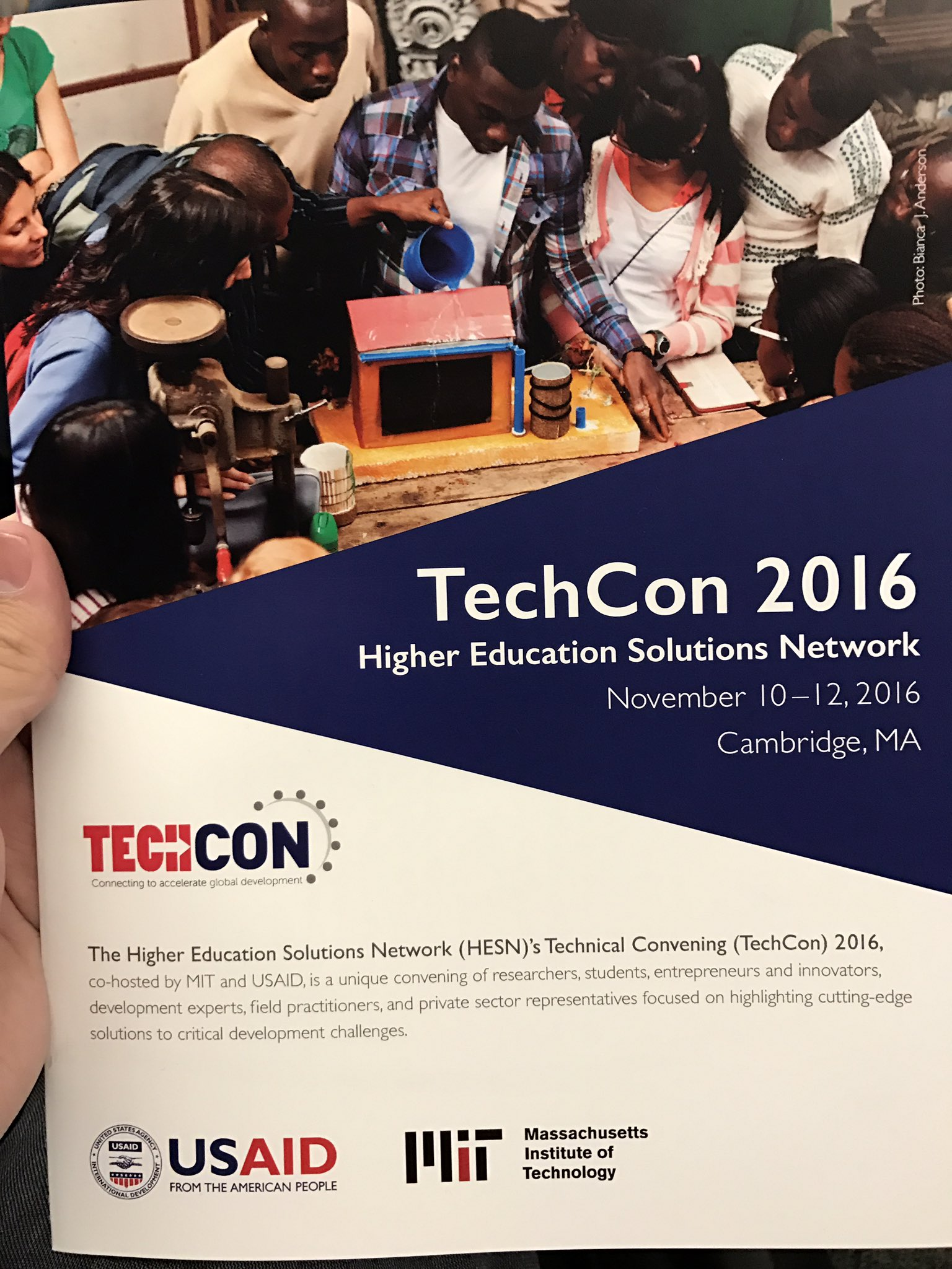 At MIT & USAID TechCon -- surrounded by so many innovators working on solving problems of developing-world. #techcon2016 https://t.co/ypZc4hgUT1