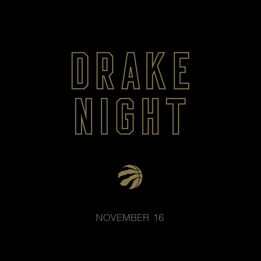 Drake Night 2016. 11.16.16. @Raptors. https://t.co/YfmgdoYa9I