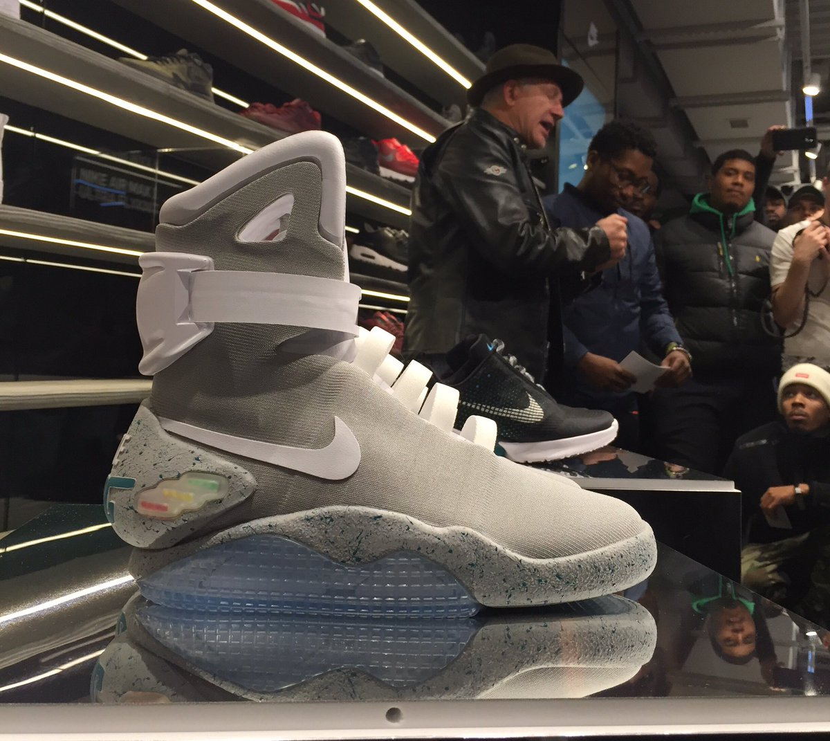 0fdf13a4d83c ... Original Nike Mag Design Sketches  The legend Tinker Hatfield talking Nike  Mags at Nike Soho now. See more on our ...