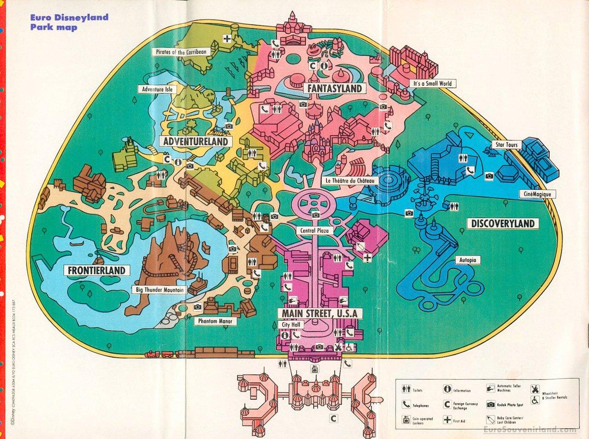 Disneyland Park Map on