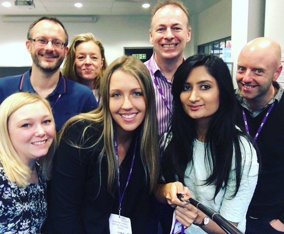 The CIPD Blogsquad, 2016 edition captured by Priya
