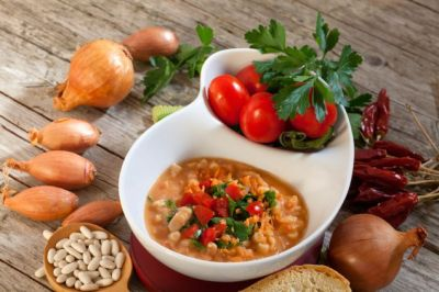 Recipes> Tuscan Peasant Soup with Pancetta: This soup takes advant
