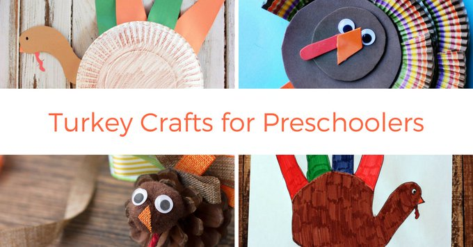 Your Preschoolers will have fun with these turkey crafts! crafts kids Thankgiving s.