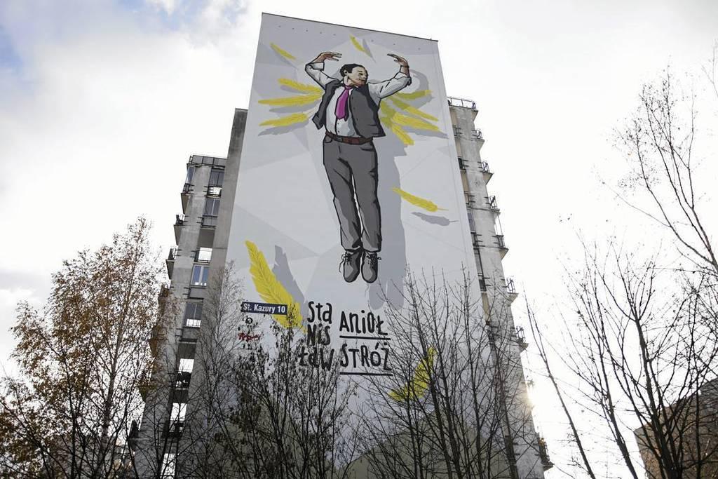 Mural w warszawie przedstawiaj cy stanis awa for Mural alternatywy 4