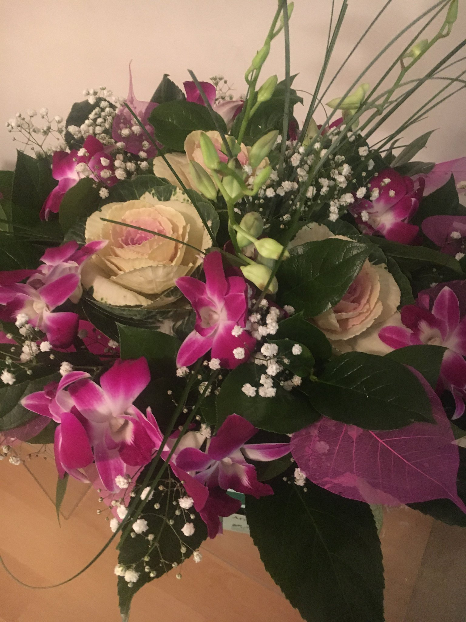 фото подаренных цветов дуэте нежной