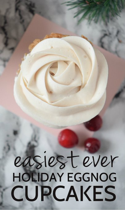 The season is perfect to try !! HOW TO MAKE EGGNOG CUPCAKES >> ://
