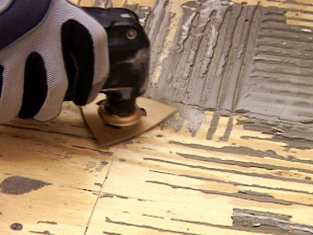 Removing old thinset will provide a better foundation for your new tile floor! DIY