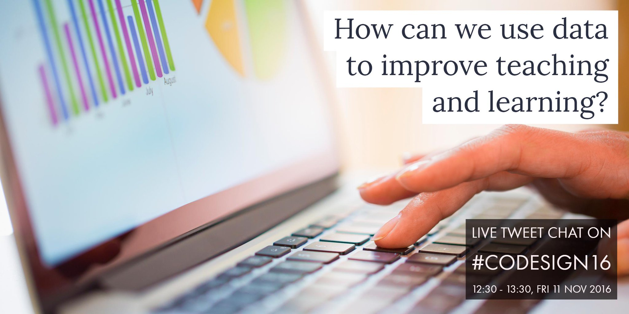 How can we use data to improve teaching & learning? Join our live tweet chat tomorrow 12:30 to discuss! https://t.co/HL3RusTafw #codesign16 https://t.co/SEIkXmcIht