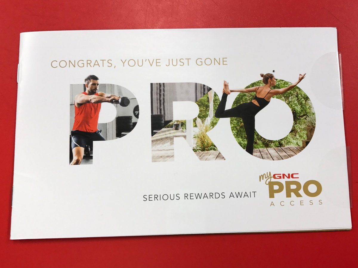 Pleased to be one of the first myGNC Pro Access members. Coming soon to a store near you. #ONEnewGNC @GNCLiveWell https://t.co/PvDJFKcAVM