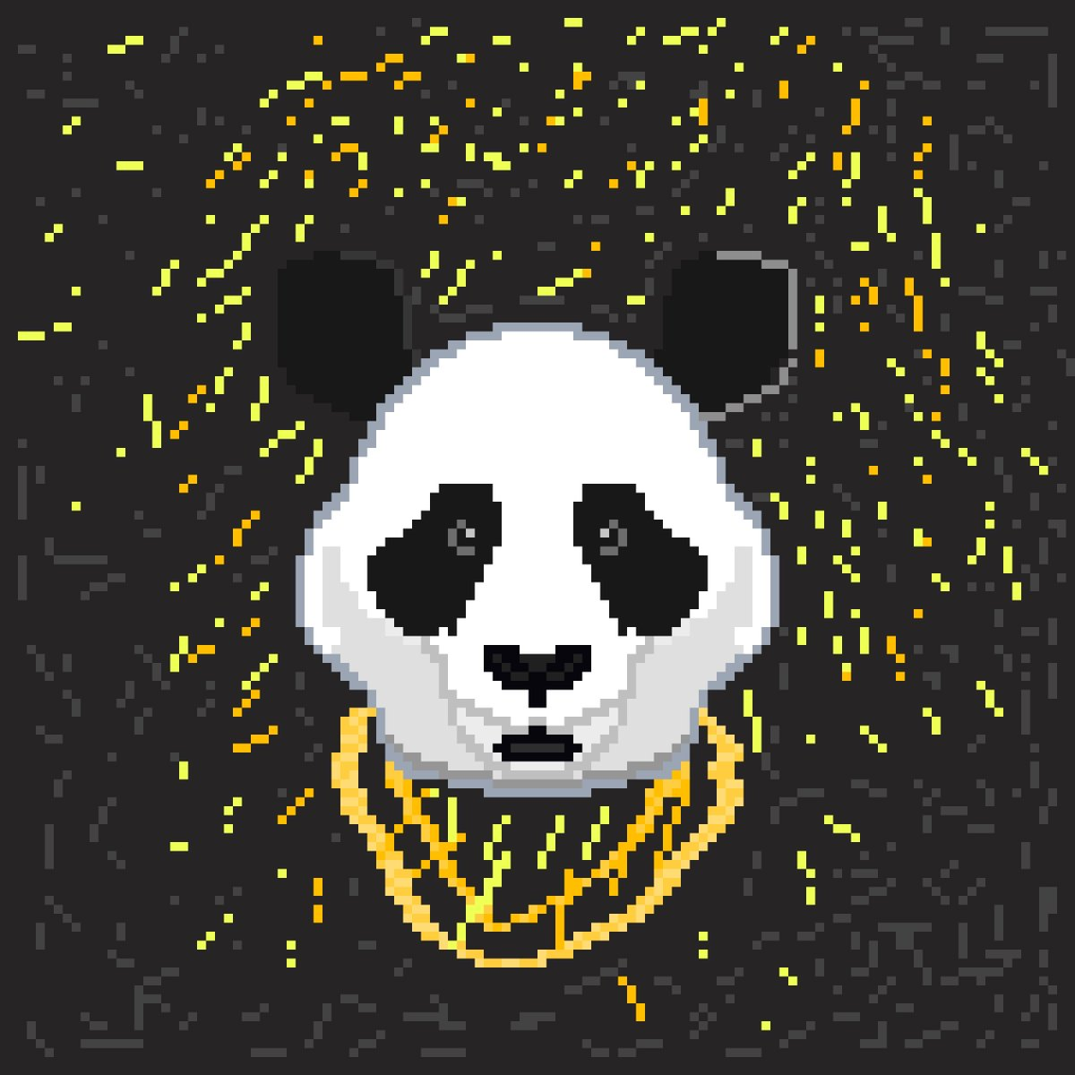 Superbrick On Twitter Panda Pixelart Panda Desiigner Art