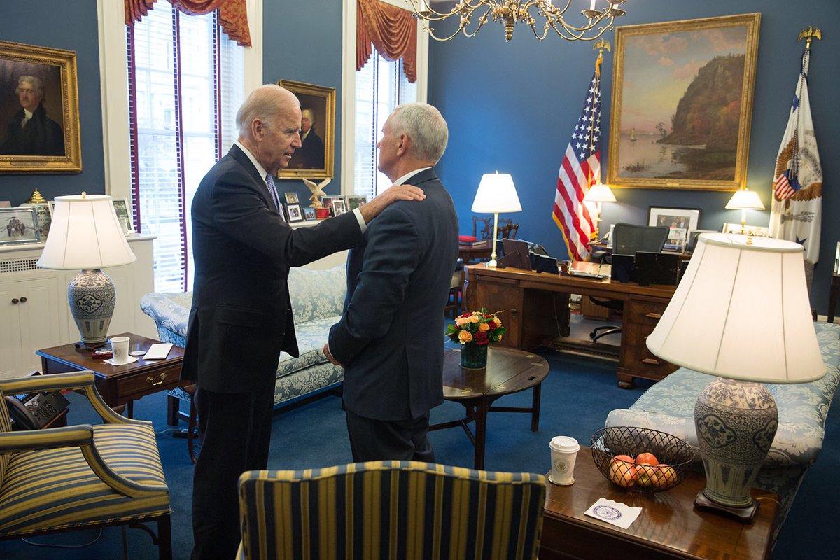 Joe Biden And Mike Pence Meet To Talk Vp Transition