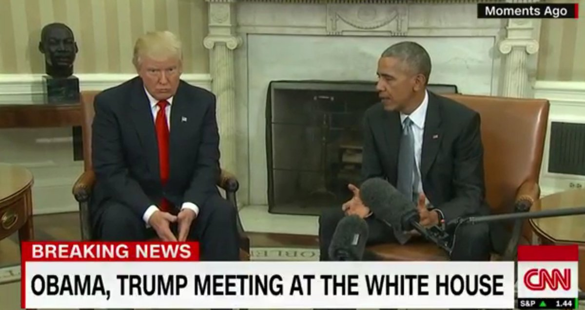 Donald Trump at the White House: Obama reports 'excellent