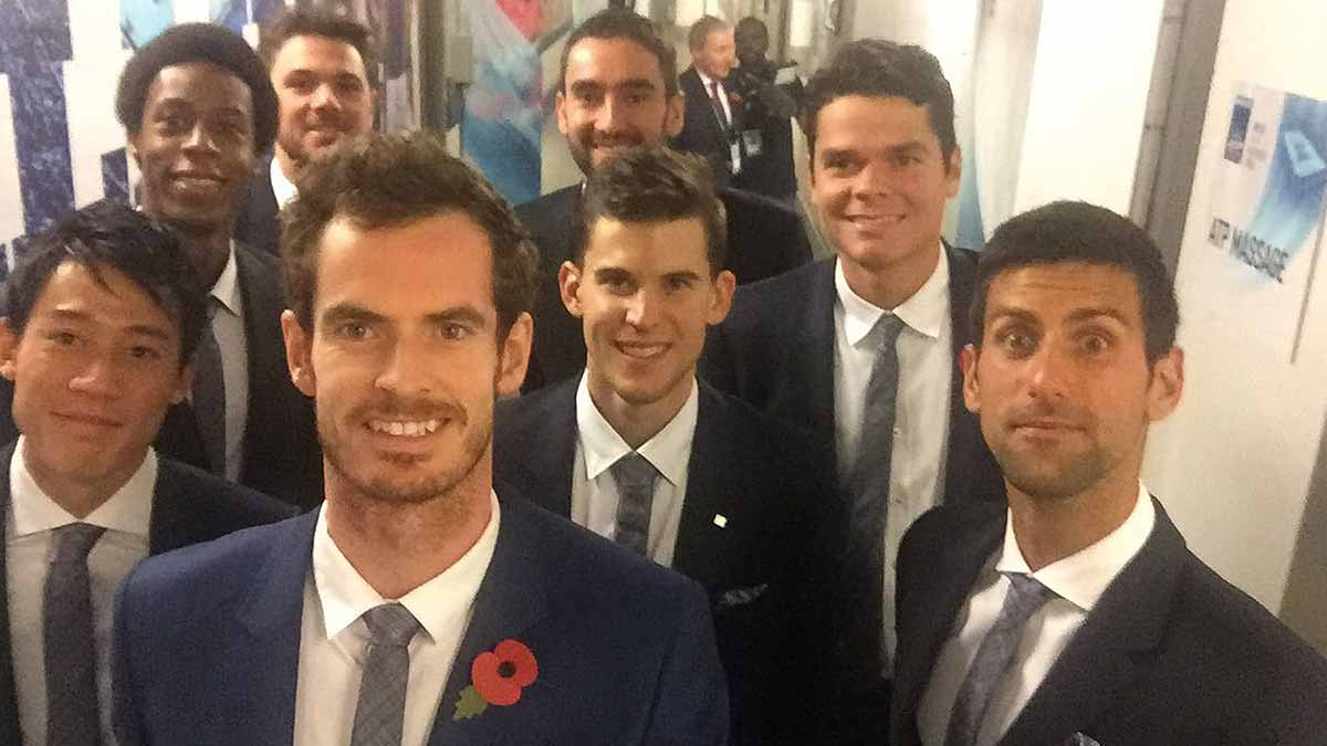 Top 8 selfie! See these guys @TheO2. Buy #ATPFinals tickets: https://t.co/L9veMR3aCA https://t.co/LM3T1TsNgF