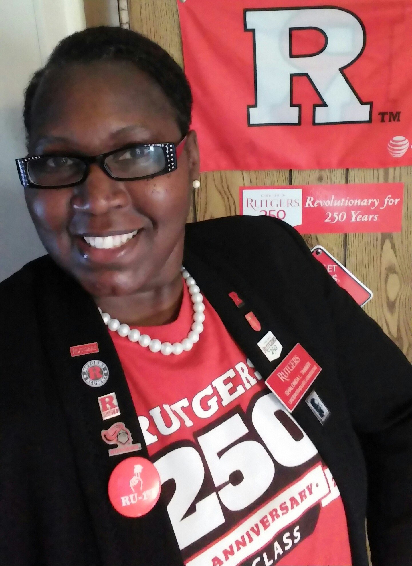 Happy Birthday @RutgersU. Charter Day #Rutgers250. Am I wearing too many #Rutgers pins? #RutgersProud @rutgersalumni https://t.co/KQ8Rl5y9uR