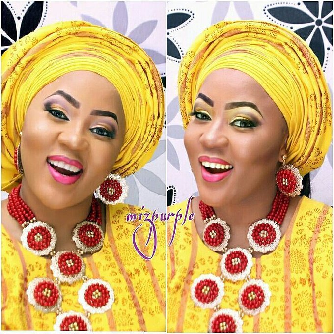 GidiMUA mizpurplemakeupempire how do I look?makeup gele naijabestmua nigeriamakeupartists