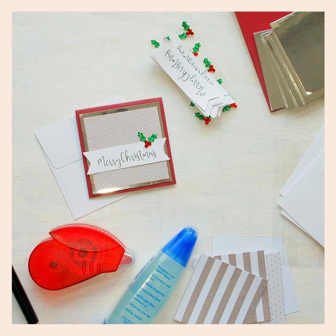 Another one of my diy card kits- these classic style gift tags. When you need something s