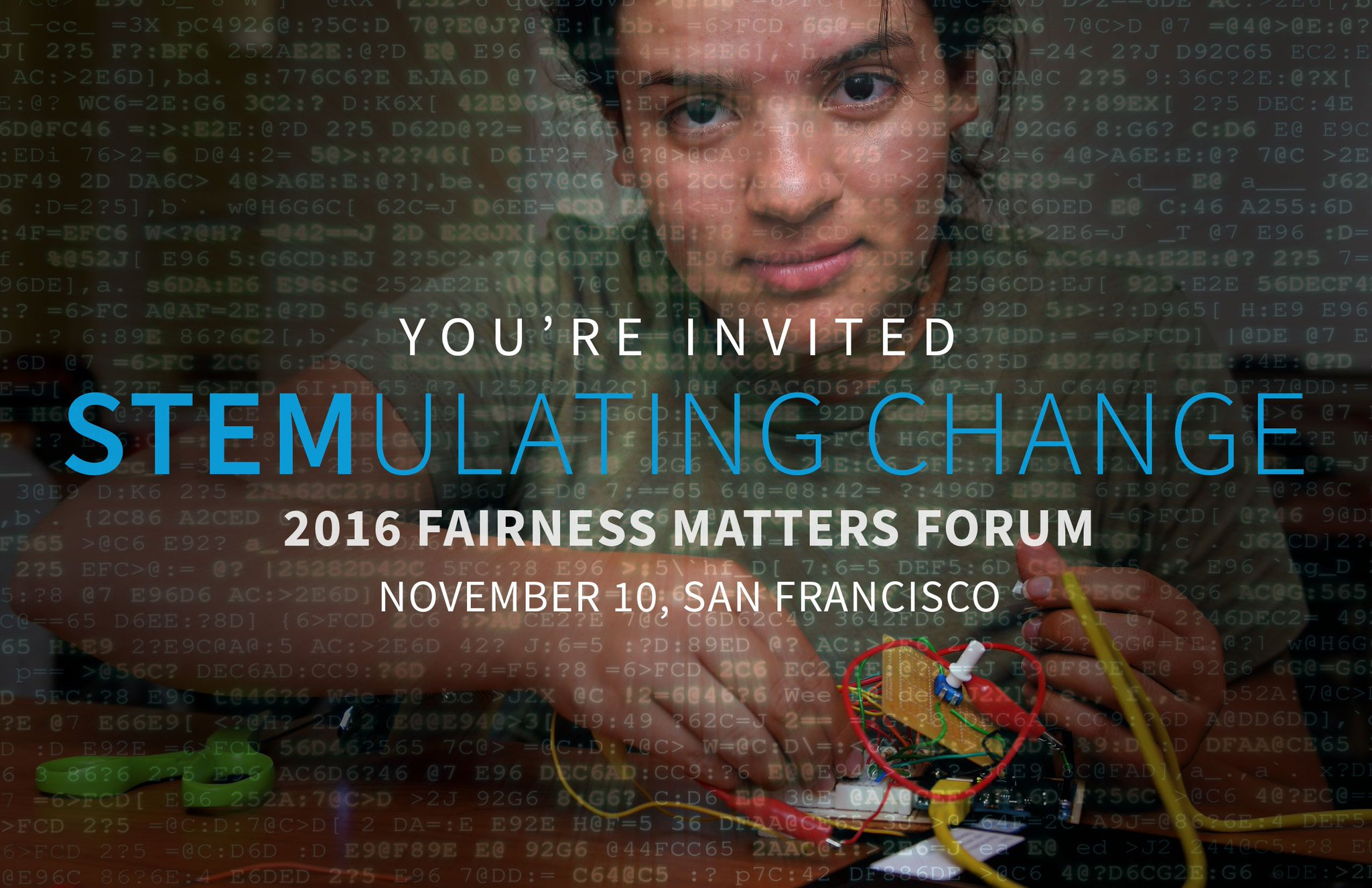 TONIGHT is the night! #FairnessMatters16 is celebrating 15 years of #STEMulatingChange this evening! Join us https://t.co/jlzV6rAaww https://t.co/A4PaHeFuZT