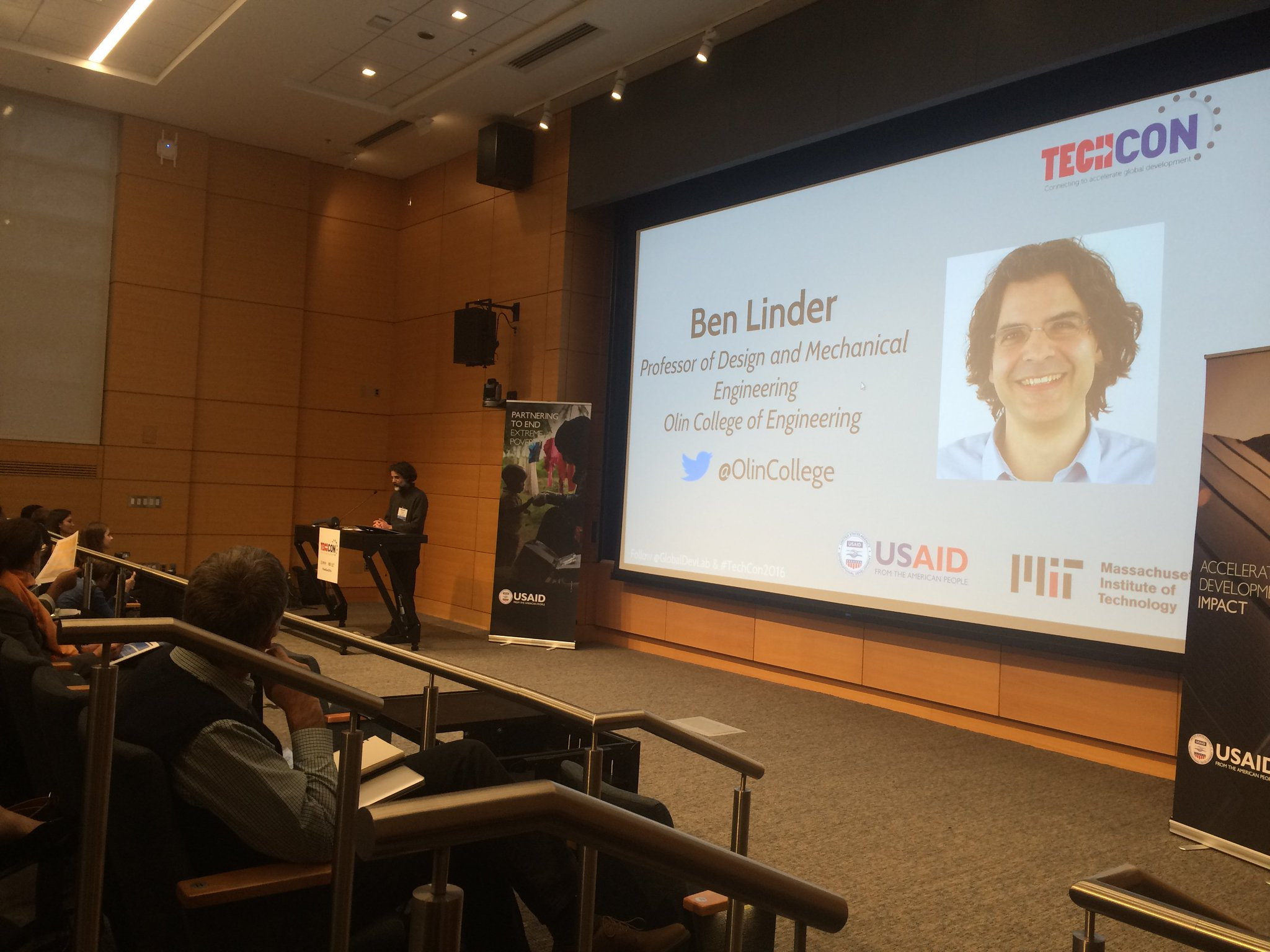 """""""Came from 11 different countries. Some for the first time. It was hard to get here."""" -@BenjaminLinder @OlinCollege #TechCon2016 #compassion https://t.co/AP3nEZSs94"""