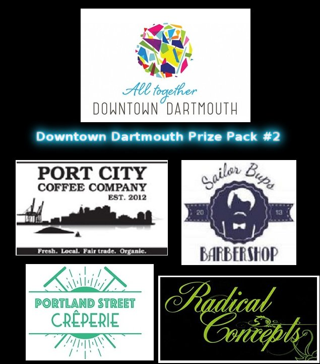 Winner of the #DDPP (#Downtown Dartmouth Prize pack #2) is @KirkTheTowle. Congratulations. We love downtown #Dartmouth. #X4HFX #Halifax<br>http://pic.twitter.com/bB7cxfD2Sf